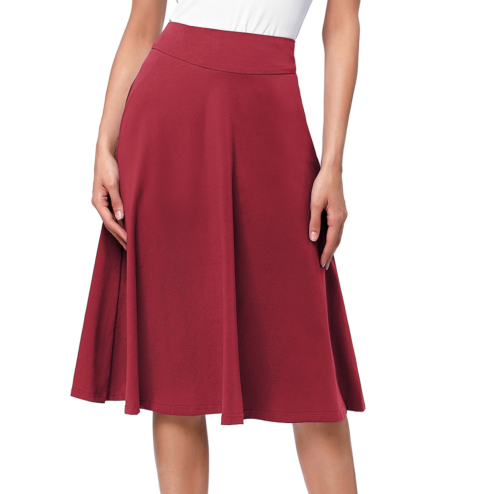 Belle Poque  Women Pleated Skirt 2020 Fashion Streetwear Casual Ladies Saia Skirts High Waist Elegant Skirts