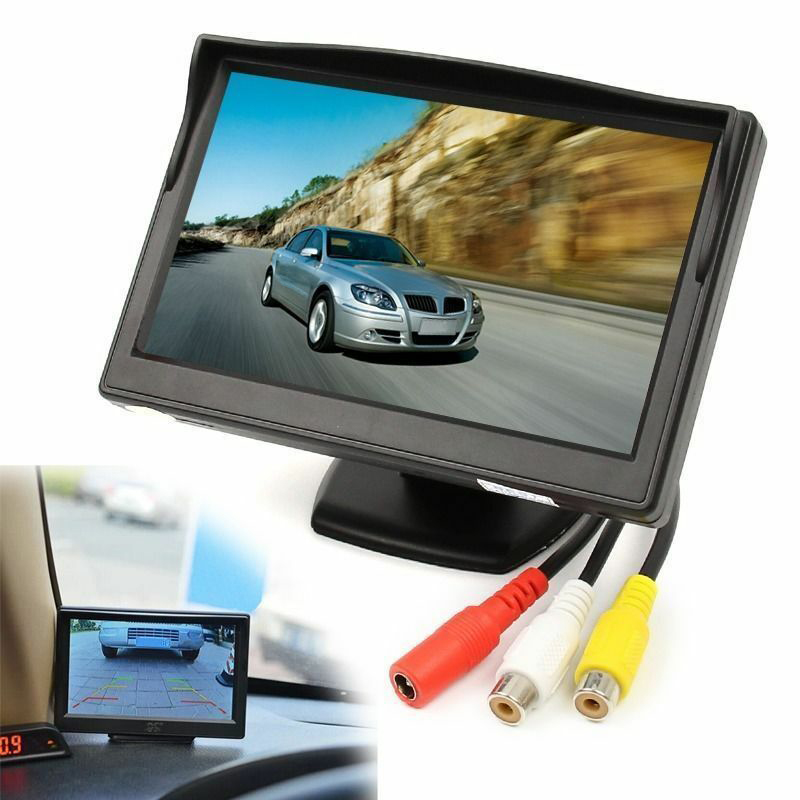 5 Inch 800X480 TFT LCD HD Sn Monitor with Dual Mounting Bracket for Car Backup Camera/Rear View/DVD/Media Player enlarge