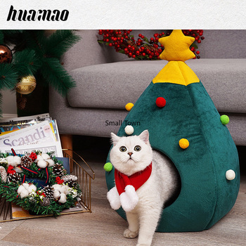 Winter christmas cat litter four seasons universal pet supplies cat mat kennel felt nest cat supplies cat bed house cat mat
