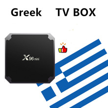 กล่อง IPTV ภาษากรีก X96 MINI ทีวี Android กล่องกรีซเยอรมันสเปน EX Yu ภาษาดัชคำอิสราเอลกล่องสมาร์ททีวีเท่านั้นไม่มีช่องรวม