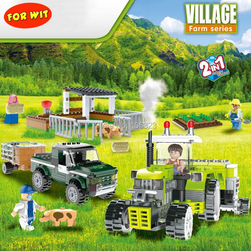 New Farmer Series Village United Sowing Machine Blocks, Field Combine Planter Seeding Models, Agricultural Machinery Truck Toys