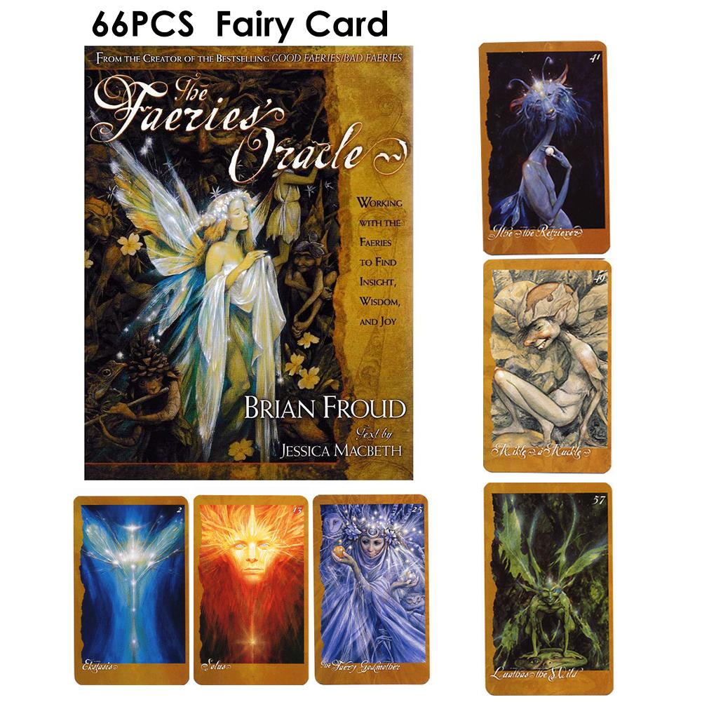 66PCS Faeries Oracle Cards Beautifully Designed Durable Fairy Paper Tarot Cards Card Game Voor Vrouwen Alle Engels Energie Tarod