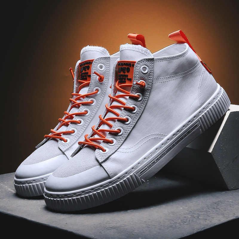 الشباب الاتجاه الصيف مظلة القماش تنفس الرجال الأحذية الكورية نمط أحذية رسمية منتصف أعلى الأحذية العصرية الأحذية طالب الأحذية القماش أحذية الرجال