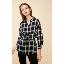 New Maternity Shirt and Blouses Long Sleeve Check Blusas Elegantes De Mujer Femininas Style Wear