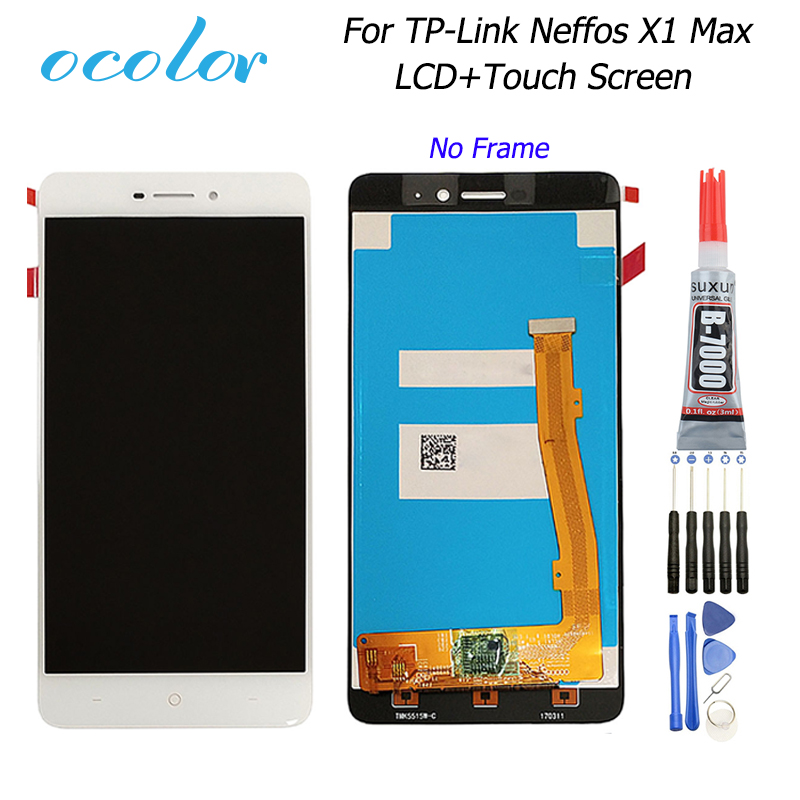Ocolor For TP-Link Neffos X1 Max LCD Display +Touch Screen Digitizer Assembly Replacement +Tools +Glue For TP-Link Neffos X1 Max