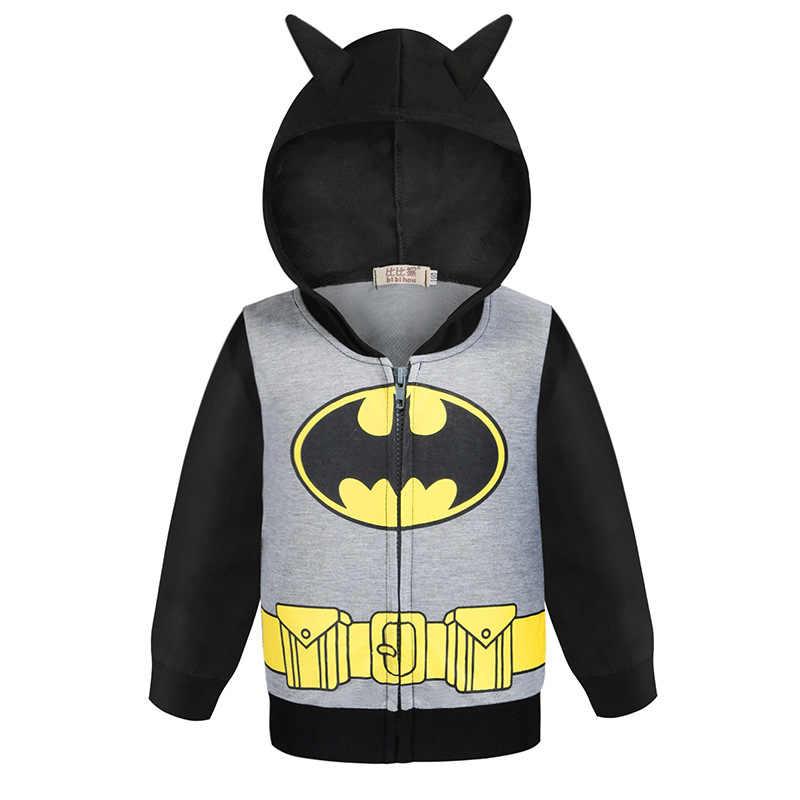 2019 nowych moda chłopcy kurtka Cosplaying Captain America Batman Altman bluza z kapturem na zamek dzieci płaszcz dla dzieci odzież chłopcy odzież wierzchnia