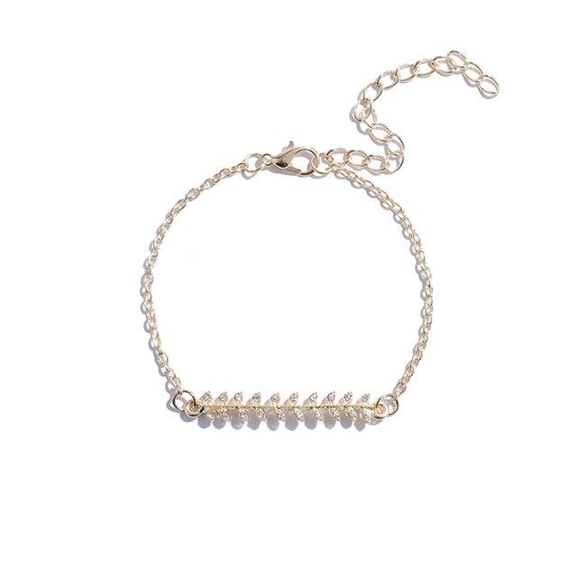 5Pcs/set Bohemian Gold color Moon Leaf Crystal Opal Open Bracelet Set for Women Punk Boho Beach Bangle Jewelry Gift 3