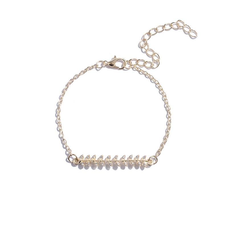 Modyle 5Pcs/set Bohemian Gold color Moon Leaf Crystal Opal Open Bracelet Set for Women Punk Boho Beach Bangle Jewelry Gift 2