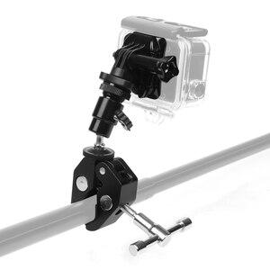 Image 2 - Silah balıkçılık çubuk yay ok sopa sabit klip tutucu GoPro Hero 7 6 5 4 3 SJCAM Eken eylem kamera