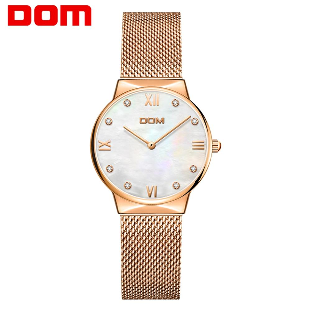 DOM Gold Watch Women Watches Ladies Creative Steel Women's Bracelet Watches Female Clock Relogio Feminino Montre Femme G-32G-7M6