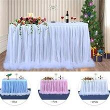 Разноцветная юбка для стола, столовая посуда, свадебная Тюлевая юбка-пачка, юбка для стола, вечерние юбки для дня рождения