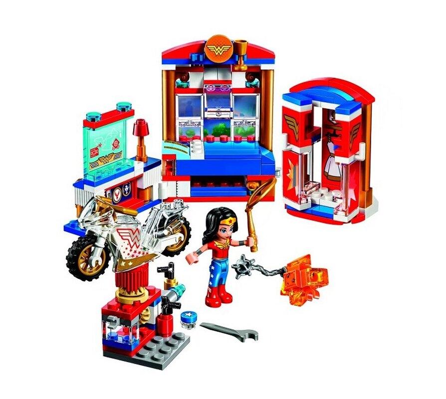 Merveille femme dortoir Kryptom 10616 Bela DC Super Heros fille modèle bloc de construction briques jouets compatibles avec Legoinglys
