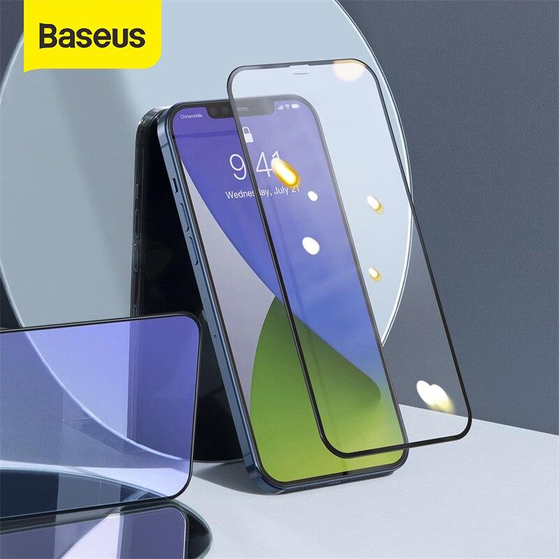 Baseus 0.3 millimetri Pieno di Vetro per il iPhone 12 Pro 12 Pro Max Protezione Dello Schermo Anti-blu Ray HD flim Vetro Anteriore Flim Vetro Temperato