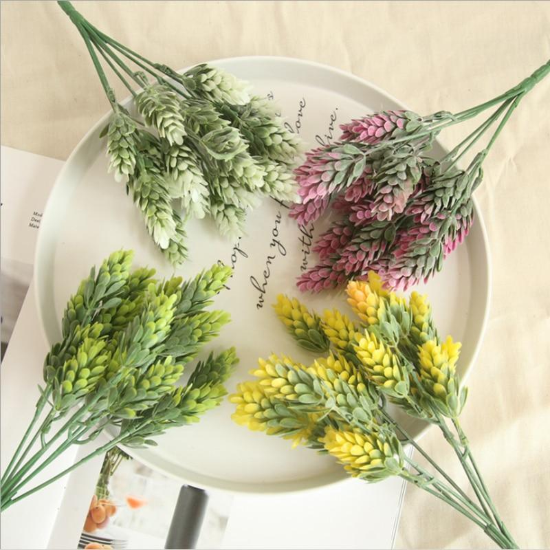 Пластиковые вазы с ананасовыми травами для домашнего декора, рождественские поделки, свадебные декоративные цветы, diy Подарочная коробка, искусственные растения|Искусственные растения|   | АлиЭкспресс