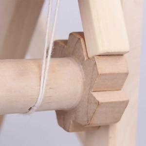 Image 4 - עץ מסורתי אריגת נול ילדי צעצוע מלאכת מתנה חינוכית עץ אריגת מסגרת סריגה מכונה