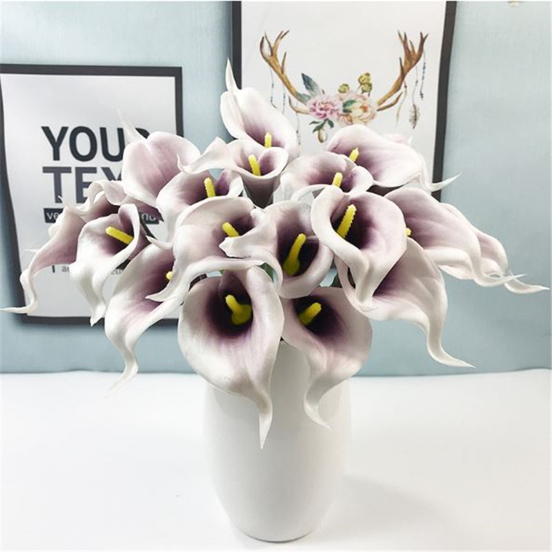 1PC PU Mini Tulips Artificial Flowers For Home And Wedding Decoration Flowers 34