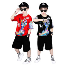 2020 Sport Suits Teenage Summer Boys Clothing Sets Short Sleeve T Shirt & Pants Casual 3 4 5 6 7 8 9 10 Years Child Boy Clothes(China)