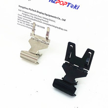 POP Metal Price Label Tag Paper Sign Card Display Clips Holders Stainless Steel H5.5cm For Retail Bread Shop Promotions 20pcs