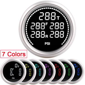 Image 1 - 車の空気サスペンションゲージ 7 色 20Bar 290PSI空気圧ブーストエアゲージと 5 個 1/8NPT電気センサレース