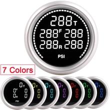 자동차 에어 서스펜션 게이지 7 색 20Bar 290PSI 공기 압력 부스트 에어 라이드 게이지 5pcs 1/8NPT 전기 센서 레이싱