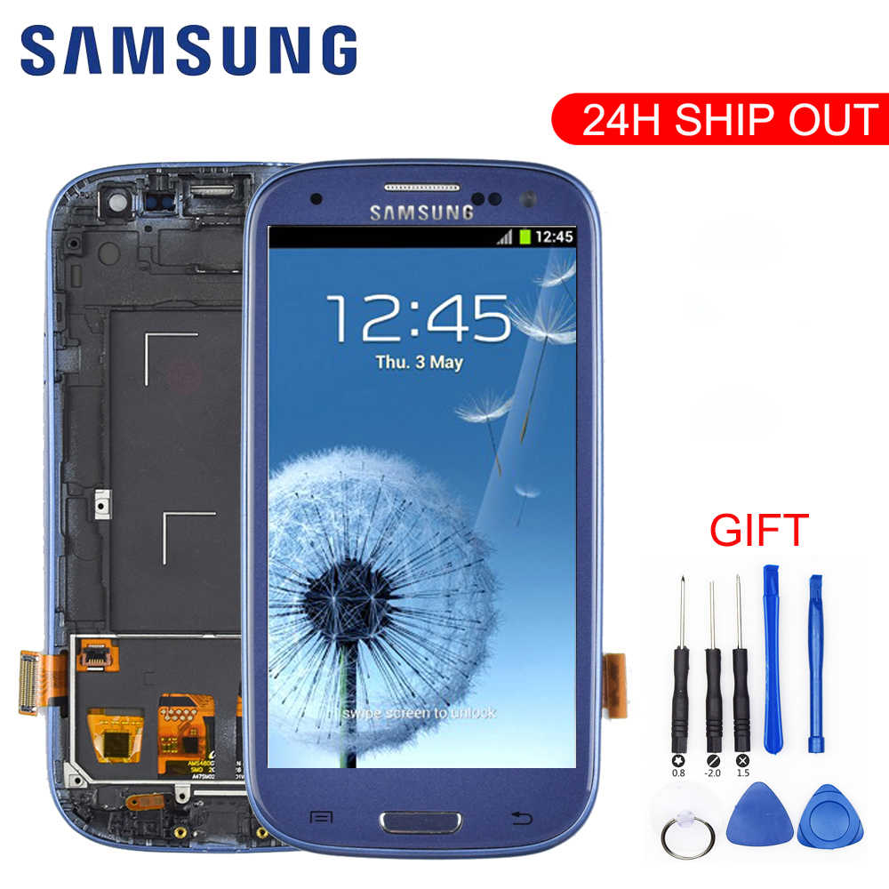 Originele Voor SAMSUNG Galaxy S3 Display i9300 i9300i Touch Screen Digitizer Vervanging Voor SAMSUNG Galaxy S3 Lcd-scherm Frame