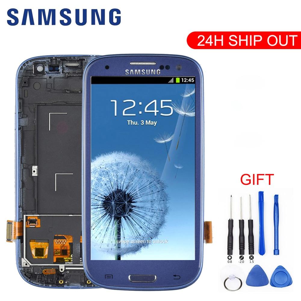 Original For SAMSUNG Galaxy S3 Display i9300 i9300i Touch Screen Digitizer Replacement For SAMSUNG Galaxy S3 Innrech Market.com