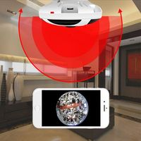 Panoramic 1080P Smart Camera WIFI Camera ONVIF H.264 Infrared Night Version M-otion Detection Dome Safety Baby Sleeping Monitors