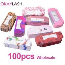 OKAYLASH Luxury Hotselling Empty Soft Paper Eyelash Packaging Boxes Many Choice Candy Colored Lash Packing Storage Case