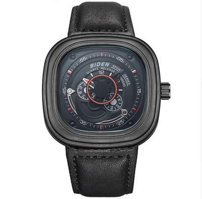 2019 Luxury Square Genuine Leather Quartz Mens Wristwatches Turbine Man  Watches  Casual Waterproof Male Clocks Citizen Movement