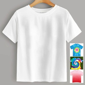 Womendiy Tie-dye Tees Casual O-neck Short Sleeve Tee Shirt Basic White Cotton Breathable T Shirt Women Famale Camisetas Mujer