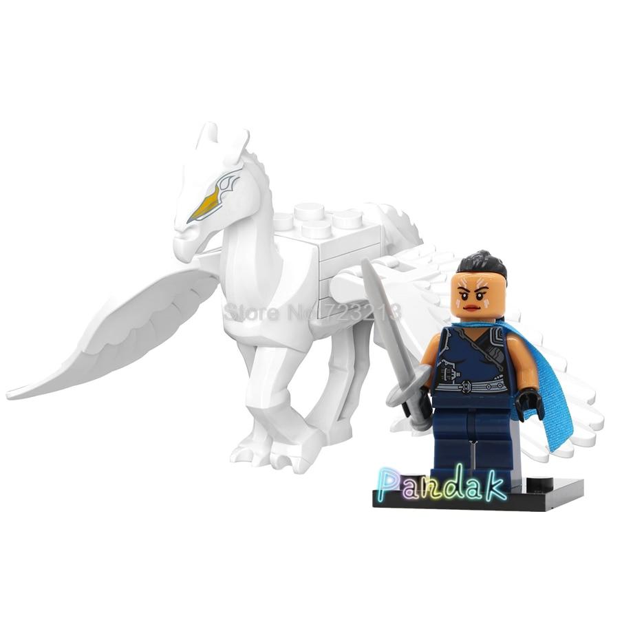 Super Hero Flying Battle Horse Valkyrie The Avengers Endgame Figure Set Marvel Thor Building Blocks Bricks Toys Legoing