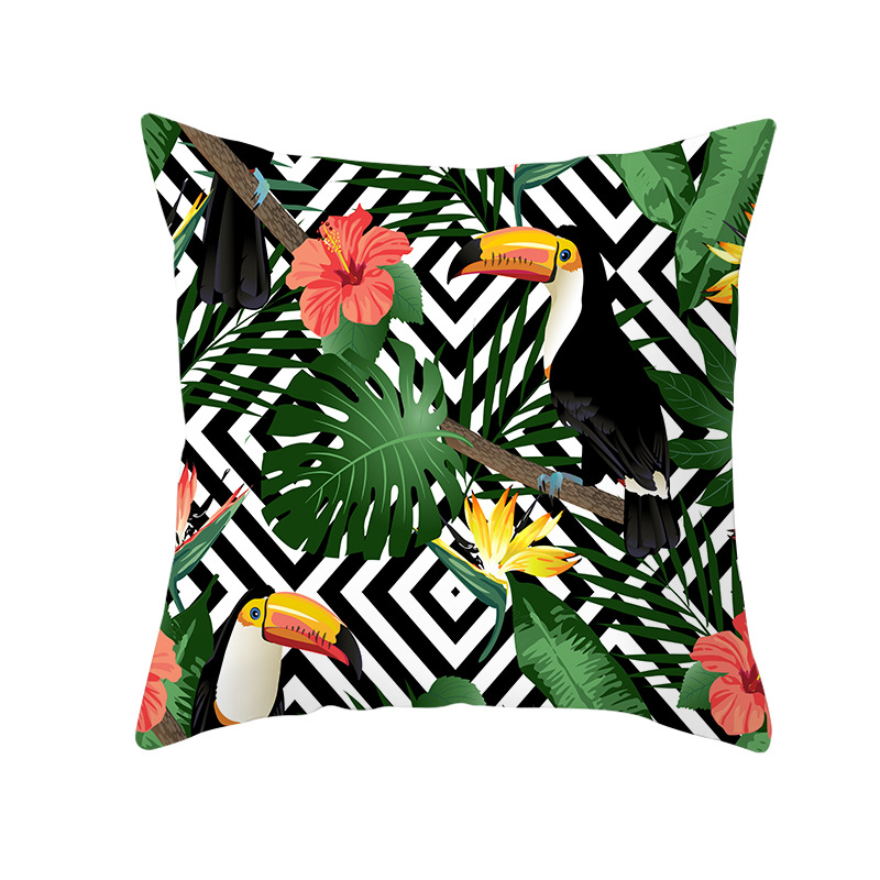 2020 Tropic Tree Green Cushion Cover Polyester Cotton Throw Pillow Cover Decorative Pillows Flower Cushion Cover For Sofa Car