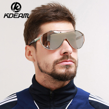 KDEAM Brand Designer oversized sunglasses men mirror mask sun glass beach shades polarized shockingly colors big eyeglass UV400