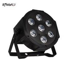 Djworld 7x18w rgbw uv 6in1cost эффективный dmx512 светодиодный