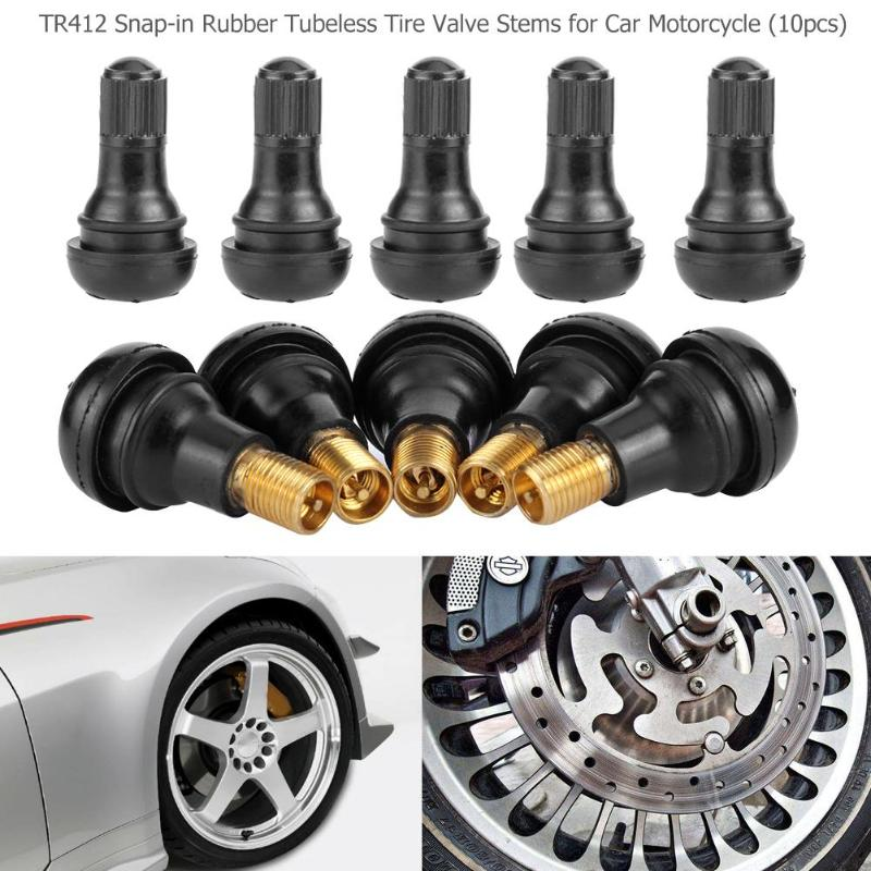 10/25Pcs Universal TR412 Rubber Copper Car Vacuum Tire Tubeless Tyre Valve Stems Air Valve For Car Auto Motorcycle Motor
