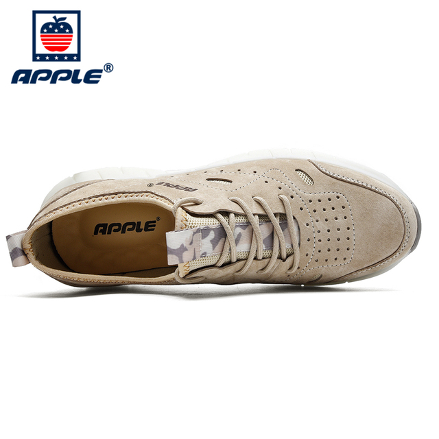 Фото бренд apple осень зима нескользящая мужская обувь натуральная