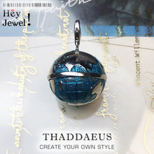Pendentif Globe bleu 2020 en argent Sterling 925, bijoux classiques avec fermoir à homard, cadeau européen pour hommes et femmes, printemps