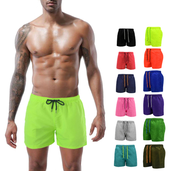 Beach Shorts Men Trunk Summer Short Pants Solid Breathable Quick Dry Swim Surfing Thigh Length S-4XL Plus Size
