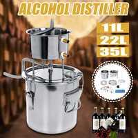11/22/35L bricolage maison alcool distillateur inox alcool brassage distillateur équipement cuivre bricolage eau vin huile essentielle Kit de brassage|Distillateurs| |  -