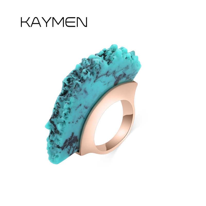 Особенный уникальный дизайн бирюзовый массивные кольца для женщин, на свадьбу для девочек, праздничные обручальные кольца под старину, кольцо с золотым покрытием, 00299