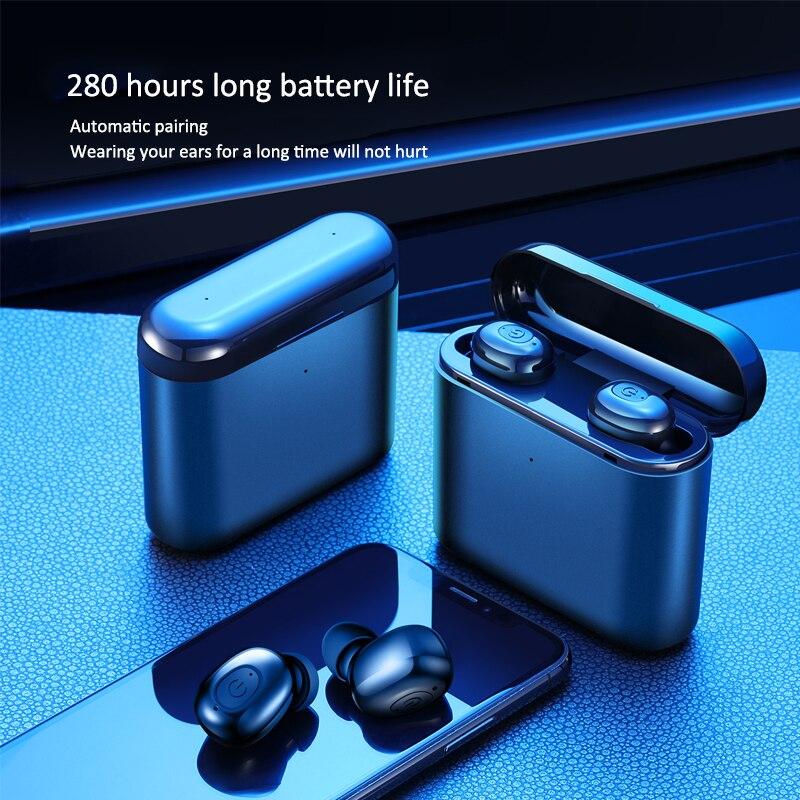 Bluetooth 5.0 Earphone 5D Stereo Wireless Headphones Sport Waterproof Handsfree Earbuds Headset With 1200 MAh Power Bank