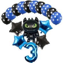 Ballons Dragon à hélium pour enfants, 16 pièces, 32 pouces, décorations de fête d'anniversaire, jouet pour fête prénatale