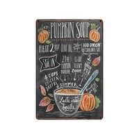 Food Eggs Tin Sign Vintage Plaque Painting Bar Cafe Home Metal Wall Art Decor 30X20CM SA-6526A