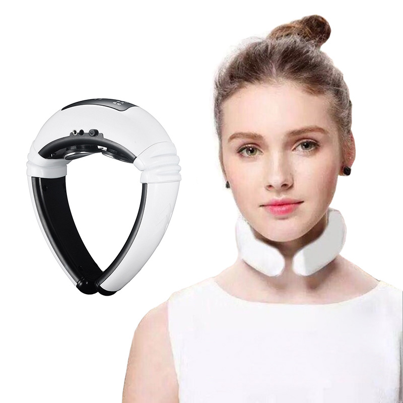 PRO Electric Neck Massager Pulse Back 6 Modes Power Control Far Infrared Heating Pain Relief Tool Health Care Relaxation Machine