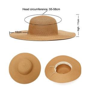 Image 5 - Custom Cappello Per Il Sole Per Cappello di Estate delle Donne Personalizzato Personalizza Il Ricamo di Testo Nome Logo Cappello di Paglia Della Spiaggia Del Cappello Femminile Parasole caps