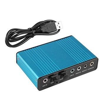 USB 6 Channel 5.1 / 7.1 Surround External Sound Card PC Laptop Desktop Tablet Audio Optical Adapter Card external usb sound card 6 channel 5 1surround adapter audio card usb 2 0 optical s pdif sound card adapter for pc laptop desktop