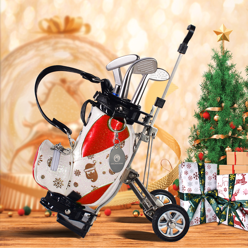 Fun Gifts Unique Golf Christmas Printing Home Decoration Sports Golf Penholder Birthday Gift Souvenir Table Top Training