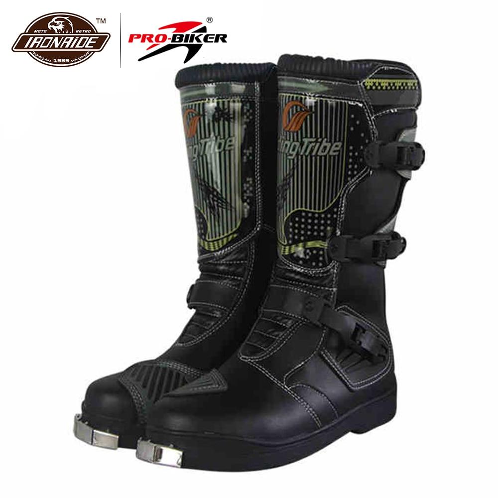 Bottes de moto imperméables PRO-BIKER bottes de Motocross pour hommes bottes d'équitation de course chaussures de moto hors route