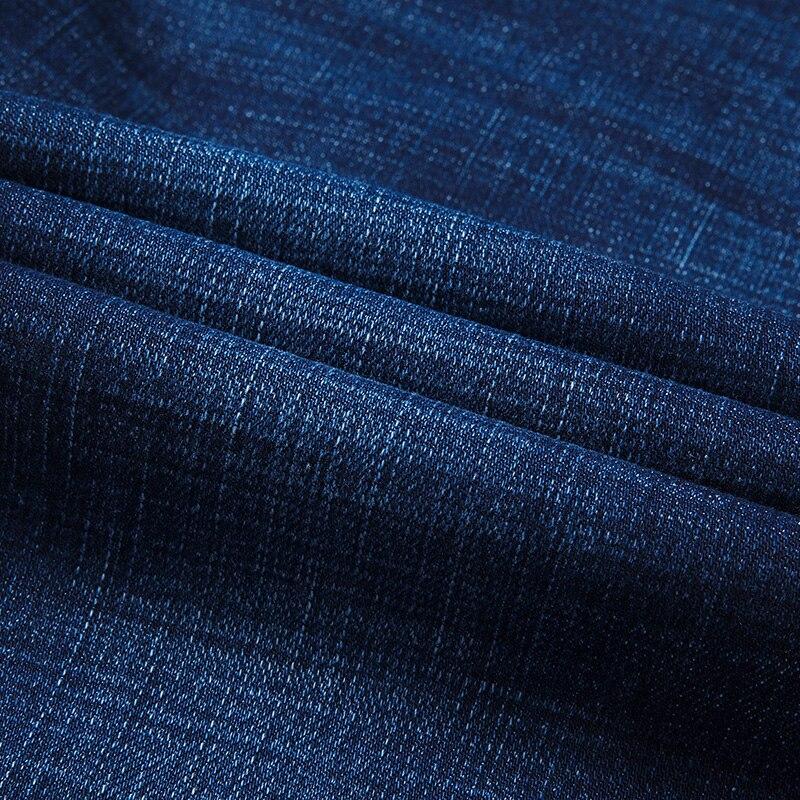 XuanSheng stretch men's jeans 2019 straight brand blue black street clothing classic fashion wash comfortable long pants jeans 4