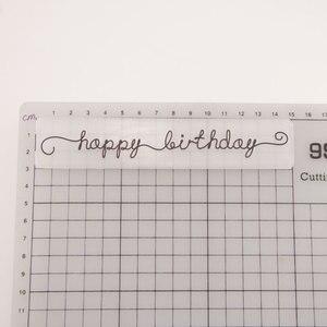 15x3 Happy Birthday DIY Plastic Embossing Folders for DIY Scrapbooking Paper Craft/Card Making Decoration Supplies